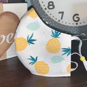Accessories - - Pineapple Adult Face Mask